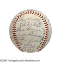 Autographs:Baseballs, 1953 New York Yankees Team Signed Baseball from the Casey StengelCollection. The unbeatable Yankees make it five World Cha...