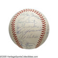 Autographs:Baseballs, 1959 American League All-Star Team Signed Baseball from the Casey Stengel Collection. Stengel, the manager of the American ...