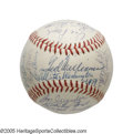 Autographs:Baseballs, 1959 American League All-Star Team Signed Baseball from the CaseyStengel Collection. Casey took skipper duties for the Mid...