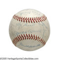 Autographs:Baseballs, 1960 New York Yankees Team Signed Baseball from the Casey StengelCollection. The M&M boys join forces for the first of sev...