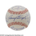 Autographs:Baseballs, 1963 New York Mets Team Signed Baseball from the Casey StengelCollection. If only the team was as high quality as the ball...