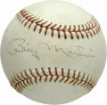Autographs:Baseballs, Billy Martin Single Signed Baseball from the Casey StengelCollection. From one legendary New York Yankees manager to anot...