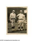 "Baseball Collectibles:Photos, Early 1920's Babe Ruth & Frank Baker Wire Photograph from theFrank ""Home Run"" Baker Collection. Though it was Baker who h..."