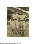 "Baseball Collectibles:Photos, 1920's-40's Muddy Ruel & Walter Johnson Wire Photographs Lot of3 from the Herold ""Muddy"" Ruel Collection. Muddy and the Bi..."