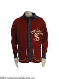 "Baseball Collectibles:Uniforms, 1924 Muddy Ruel Game Worn Tour of Europe Sweater from the Herold ""Muddy"" Ruel Collection. Absolutely exceptional specimen i..."