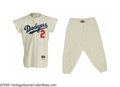 Baseball Collectibles:Uniforms, 1956 Randy Jackson Game Worn Uniform. The glorious Brooklyn Dodgers home flannel, coveted by thousands, owned by few. Here...