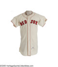 Baseball Collectibles:Uniforms, 1959 Boston Red Sox Game Worn Jersey, Number 18. The seventh of eight seasons on the Fenway mound for the All-Star pitcher ...