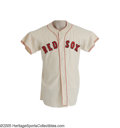 Baseball Collectibles:Uniforms, Circa 1960 Boston Red Sox Game Worn Jersey, Number 26. Removed year and size tags keep us from making a definitive statemen...