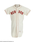 Baseball Collectibles:Uniforms, 1960 Ted Williams Game Worn Jersey. Like a classic Hollywood film,the career of the legendary Ted Williams ended, on Wedne...
