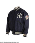 Baseball Collectibles:Uniforms, 1973 Thurman Munson Game Worn Jacket. Ah, the joys of being young and beautiful. It certainly worked out well for our cons...