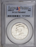 Kennedy Half Dollars: , 2005-P 50C Satin Finish MS68 PCGS. PCGS Population: (668/221). ...