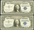 Error Notes:Mismatched Serial Numbers, Pair of Fr. 1619 $1 1957 Silver Certificate Errors. Very Fine.. ... (Total: 2 notes)