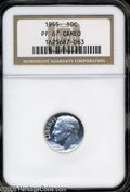 Proof Roosevelt Dimes: , 1955 10C PR67 Cameo NGC. PCGS Population (133/40). NGC Census:(112/183). (#85230)...