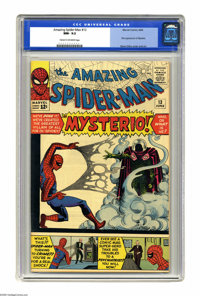 The Amazing Spider-Man #13 (Marvel, 1964) CGC NM- 9.2 Cream to off-white pages. Special effects ace turned villain Myste...