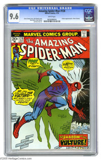 The Amazing Spider-Man #128 (Marvel, 1974) CGC NM+ 9.6 White pages. The Vulture appears. John Romita Sr. cover. Ross And...