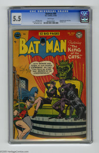 Batman #69 (DC, 1952) CGC FN- 5.5 White pages. Catwoman cover and story. Bondage cover by Win Mortimer. Interior art by...