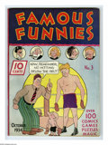 Platinum Age (1897-1937):Miscellaneous, Famous Funnies #3 (Eastern Color, 1934) Condition: Apparent FN/VF.This is the first comic book appearance of Buck Rogers, a...