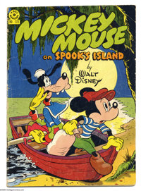 """Four Color #170 Mickey Mouse (Dell, 1947) Condition: GD. Mickey Mouse """"on Spook's Island."""" Cover by Harvey Eis..."""