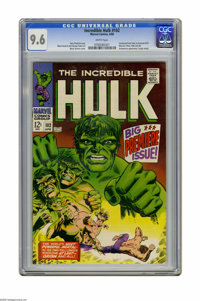 The Incredible Hulk #102 (Marvel, 1968) CGC NM+ 9.6 White pages. Origin retold. Story continued from Tales to Astonish #...