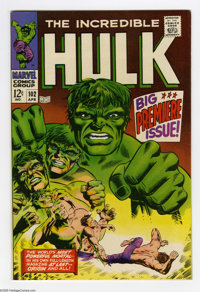 The Incredible Hulk #102 (Marvel, 1968) Condition: VF+. Origin retold. Story continued from Tales to Astonish #101. Warr...