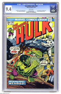 The Incredible Hulk #180 (Marvel, 1974) CGC NM 9.4 White pages. Wolverine last-page cameo, his very first appearance. Hu...