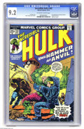 Bronze Age (1970-1979):Superhero, The Incredible Hulk #182 (Marvel, 1974) CGC NM- 9.2 Off-white to white pages. First appearance of Crackajack Jackson, Hammer... (1 )