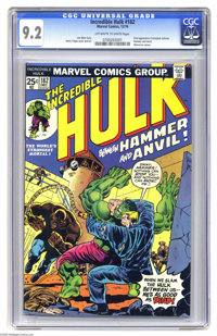 The Incredible Hulk #182 (Marvel, 1974) CGC NM- 9.2 Off-white to white pages. First appearance of Crackajack Jackson, Ha...