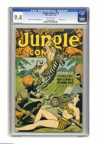 Jungle Comics #73 (Fiction House, 1946) CGC NM 9.4 Off-white pages. That's Ann Mason who's all tied up on this issue's b...