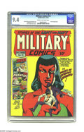 Golden Age (1938-1955):War, Military Comics #14 (Quality, 1942) CGC NM 9.4 Cream to off-whitepages. While this series' covers understandably tended to ...
