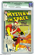 Silver Age (1956-1969):Science Fiction, Mystery in Space #59 (DC, 1960) CGC Qualified FN/VF 7.0 Cream to off-white pages. Gil Kane cover. Murphy Anderson, Carmine I...