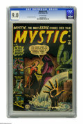 Golden Age (1938-1955):Horror, Mystic #10 (Atlas, 1952) CGC VF/NM 9.0 Off-white pages. Russ Heathcover and art. Overstreet 2005 VF/NM 9.0 value = $287; NM...