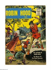 Robin Hood Tales #5 (Quality, 1956) Condition: FN+. Cover and art by Matt Baker. Overstreet 2005 FN 6.0 value = $102; VF...