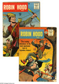 Silver Age (1956-1969):Adventure, Robin Hood Tales #1 and 2 Group (Quality, 1956). Included are issues #1 (FR/GD) and 2 (FN). Covers and art by Matt Baker. Ap... (2 Comic Books)