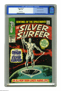 Silver Age (1956-1969):Superhero, The Silver Surfer #1 (Marvel, 1968) CGC NM+ 9.6 Off-white pages.The Silver Surfer's origin of how Norrin Radd became Galact...