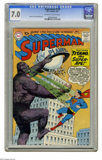Superman #138 (DC, 1960) CGC FN/VF 7.0 Off-white to white pages. Curt Swan cover. Wayne Boring art. Overstreet 2005 FN 6...