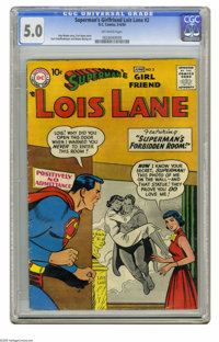Superman's Girl Friend Lois Lane #2 (DC, 1958) CGC VG/FN 5.0 Off-white pages. Curt Swan cover. Kurt Schaffenberger and W...