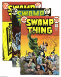 Bronze Age (1970-1979):Horror, Swamp Thing Group (DC, 1973-75) Condition: Average FN/VF.NIne-issue group lot includes #5, 6, 7 (Batman appearance), 8, 10... (9 Comic Books)