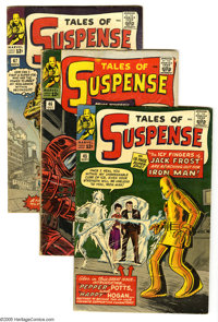 Tales of Suspense #45-47 Group (Marvel, 1963). Three-issue group lot includes #45 (first appearances of Happy and Pepper...