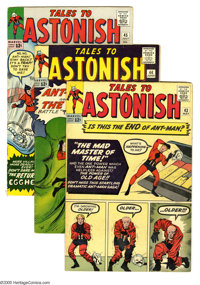 Tales to Astonish #43-45 Group (Marvel, 1963) Condition: Average VG/FN. Three-issue group lot includes #43, 44 (origin a...