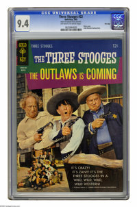 """Three Stooges #22 File Copy (Gold Key, 1965) CGC NM 9.4 Off-white to white pages. Movie scenes from """"The Outlaws Is..."""