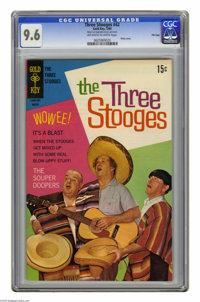 Three Stooges #42 File Copy (Gold Key, 1969) CGC NM+ 9.6 Off-white to white pages. Photo cover. This is currently the hi...