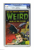 "Golden Age (1938-1955):Horror, Weird Tales of the Future #4 (Aragon, 1952) CGC FN 6.0 Cream tooff-white pages. Features the story ""Jumpin Jupiter"" by Basi..."