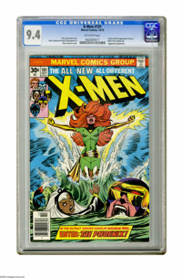 X-Men #101 (Marvel, 1976) CGC NM 9.4 Off-white pages. Origin and first appearance of Phoenix. Black Tom Cassidy and Jugg...