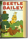 Silver Age (1956-1969):Humor, Beetle Bailey Bound Volumes (Dell, 1956-60). These are Western Publishing file copies that have been trimmed and bound into ... (2)