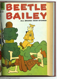 Beetle Bailey Bound Volumes (Dell, 1956-60). These are Western Publishing file copies that have been trimmed and bound i...