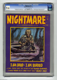 Nightmare #12 (Skywald, 1973) CGC NM+ 9.6 Off-white to white pages. Edgar Allan Poe adaptation. Swamp theme issue. Pablo...