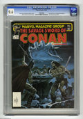 Magazines:Miscellaneous, Savage Sword of Conan #82 (Marvel, 1982) CGC NM+ 9.6 White pages.Bob Larkin cover. Armando Gil frontispiece. Ernie Chan pin...