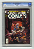 Magazines:Miscellaneous, Savage Sword of Conan #91 (Marvel, 1983) CGC NM+ 9.6 White pages.Armando Gil frontispiece. Mike Kaluta cover. John Buscema,...