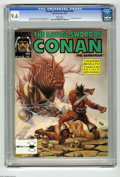 Magazines:Miscellaneous, Savage Sword of Conan #195 (Marvel, 1992) CGC NM+ 9.6 White pages.Ovi Hondru cover and pin-ups. John Buscema and Tony DeZun...