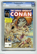 Magazines:Miscellaneous, Savage Sword of Conan #196 (Marvel, 1992) CGC NM/MT 9.8 Whitepages. King Kull back-up story. Earl Norem cover. John Buscema...